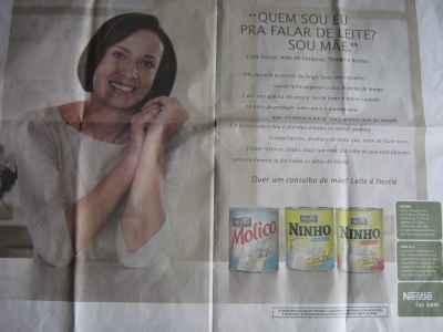 Mães e profissionais de saúde mostram indignação com o anúncio da Nestlé