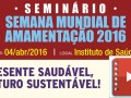 Seminário preparatório da SMAM 2016 (vídeo e slides para download)