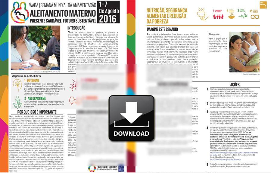 FOLDER SMAM 2016 – 'Presente saudável, futuro sustentável'
