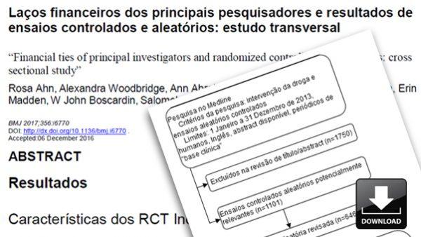 Laços financeiros dos principais pesquisadores e resultados de ensaios controlados e aleatórios: estudo transversal