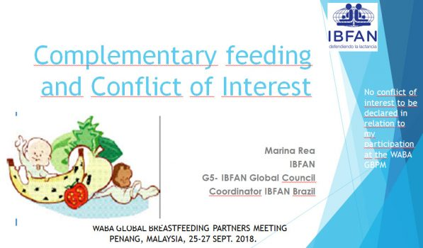 Complementary Feeding and Conflict of Interest