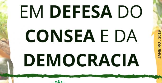 EM DEFESA DO CONSEA E DA DEMOCRACIA
