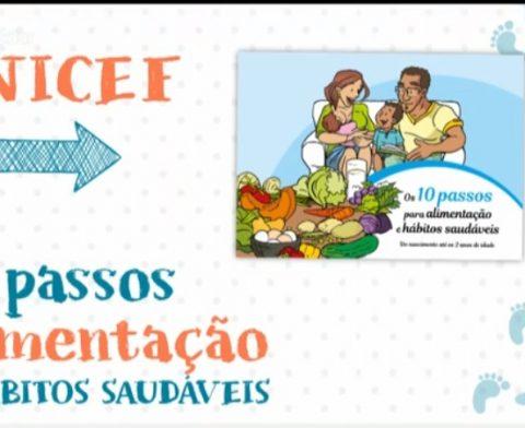 Unicef cria cartilha com 10 passos para alimentação e hábitos saudáveis até os 2 anos