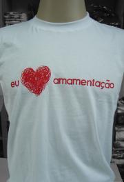 Camiseta Eu Amo Amamentação