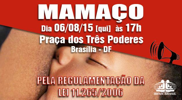 MAMAÇO em Brasília, pela regulamentação da Lei sobre a comercialização de alimentos infantis