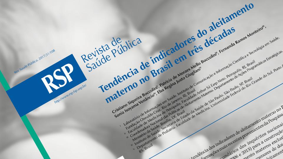 Tendência de indicadores do aleitamento materno no Brasil em três décadas