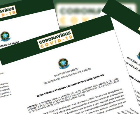 COVID-19 | NOTAS TÉCNICAS N. 8, 9 E 10: BLH, AMAMENTAÇÃO/SITUAÇÃO DE EMERGÊNCIA, RECÉM-NASCIDO